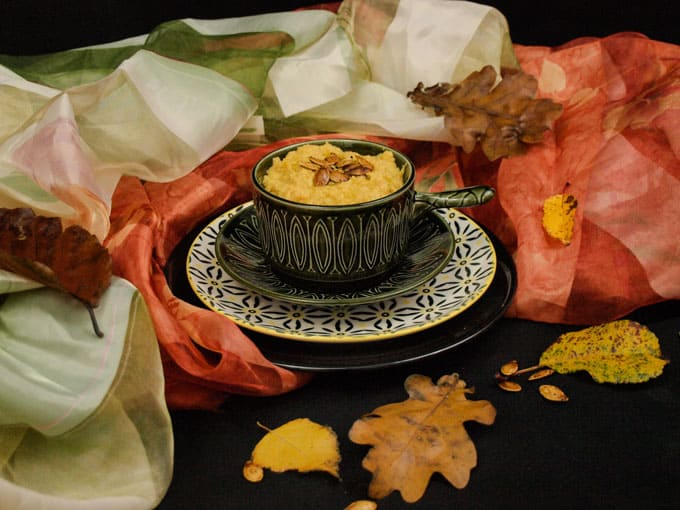 Fall is the perfect time to enjoy Roast Pumpkin Hummus