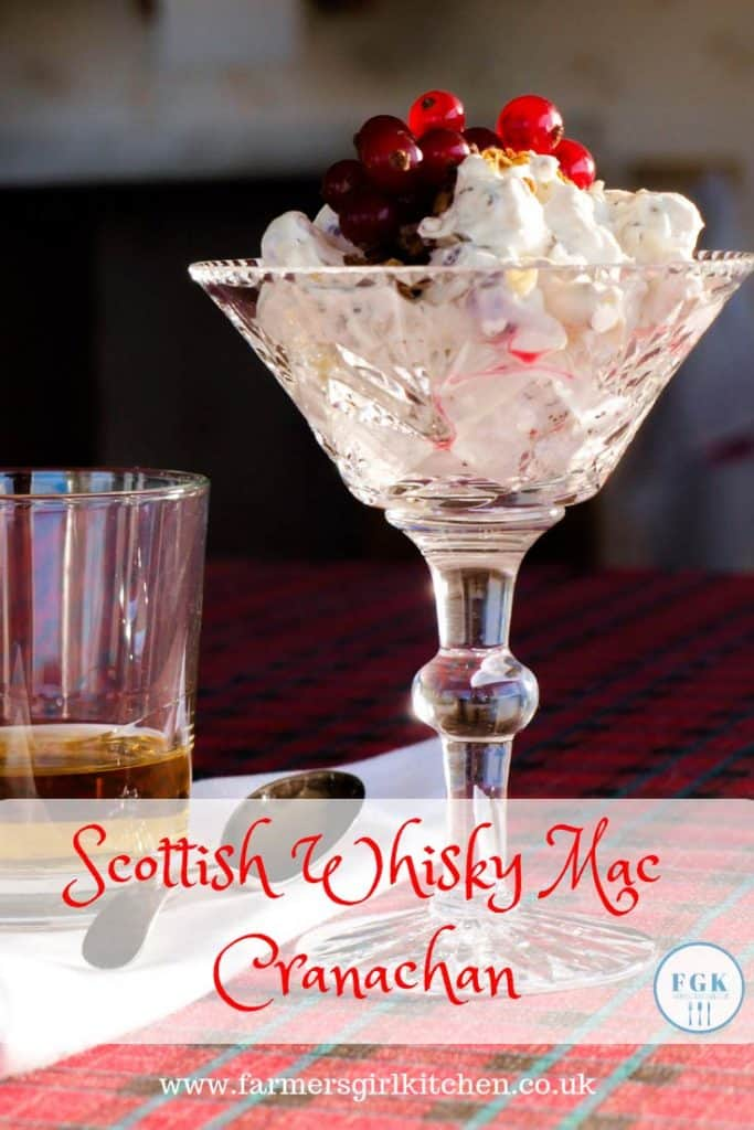 Scottish Whisky Mac Cranachan Dessert is ideal for entertaining. A combination of whipped cream, oats, honey, Scotch Whisky and ginger it is a delicious confection that will make you and your guests very happy #scottish #dessert #whisky #recipe