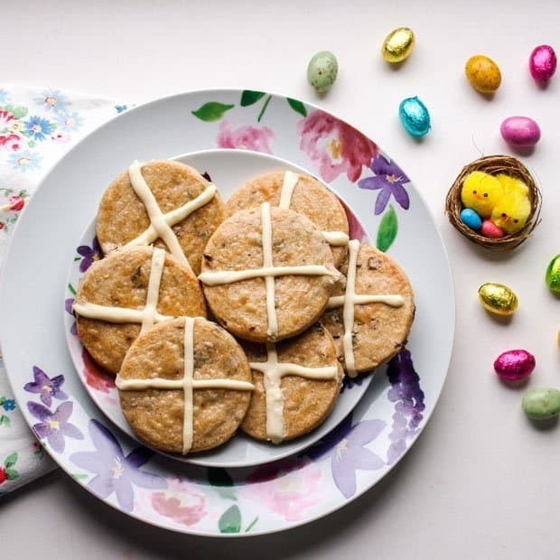 Hot Cross Bun Shortbread Cookies and Easter Treat