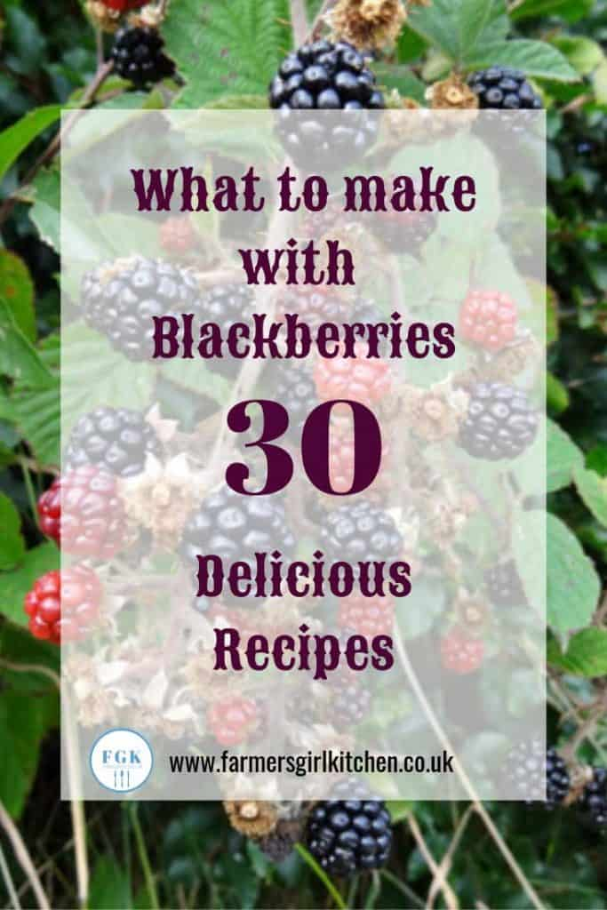 What to make with blackberries