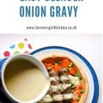 Easy Blender Onion Gravy Pin