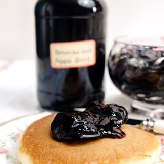 jar of Blackberry & Apple Jelly and pancake