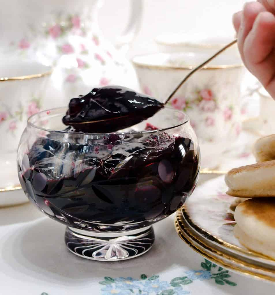 A spoonful of Blackberry & Apple Jelly