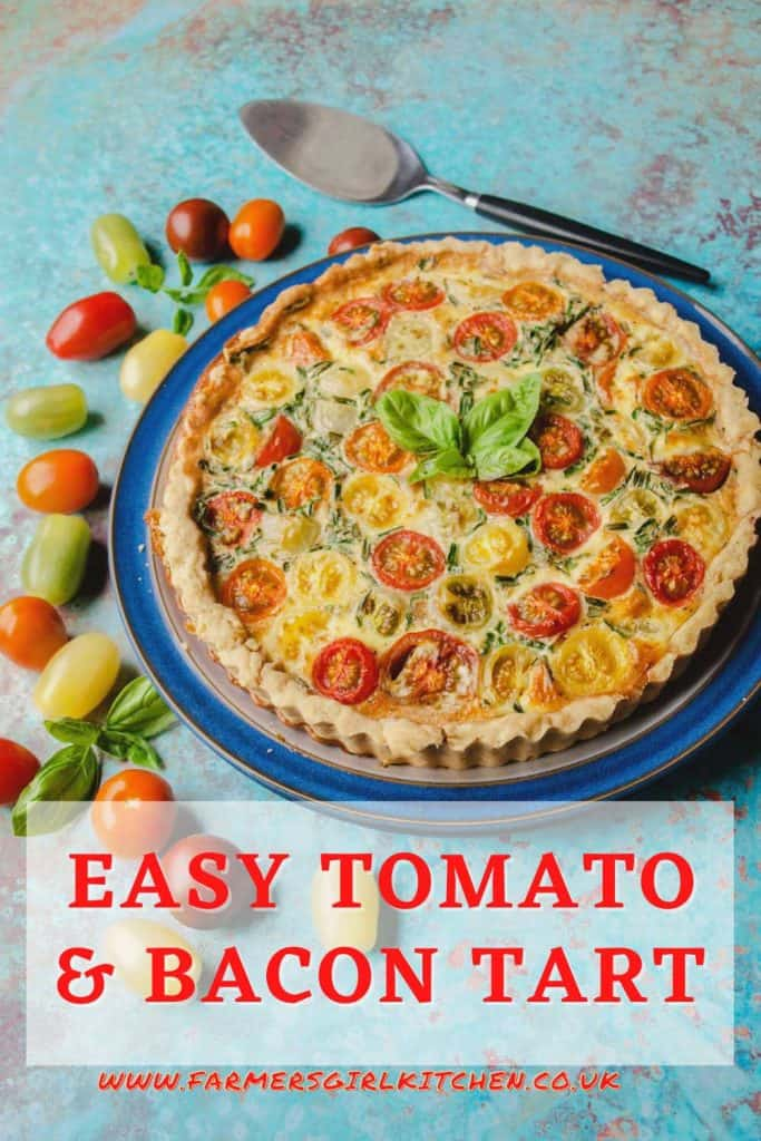 Large tomato tart with tomatoes