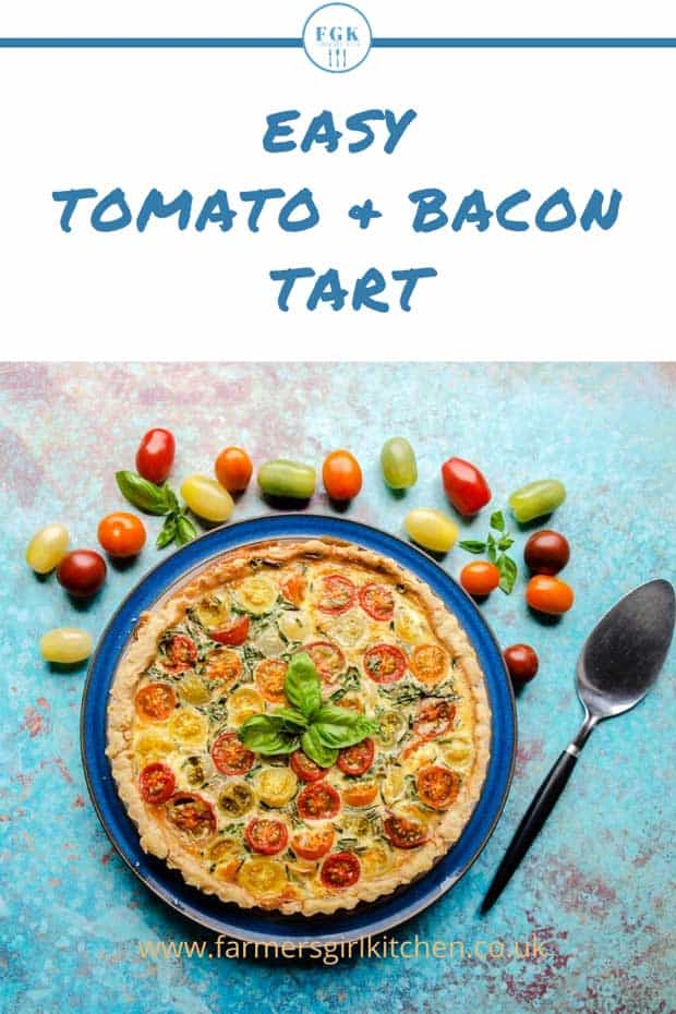Tomato & Bacon Tart with tomatoes recipe