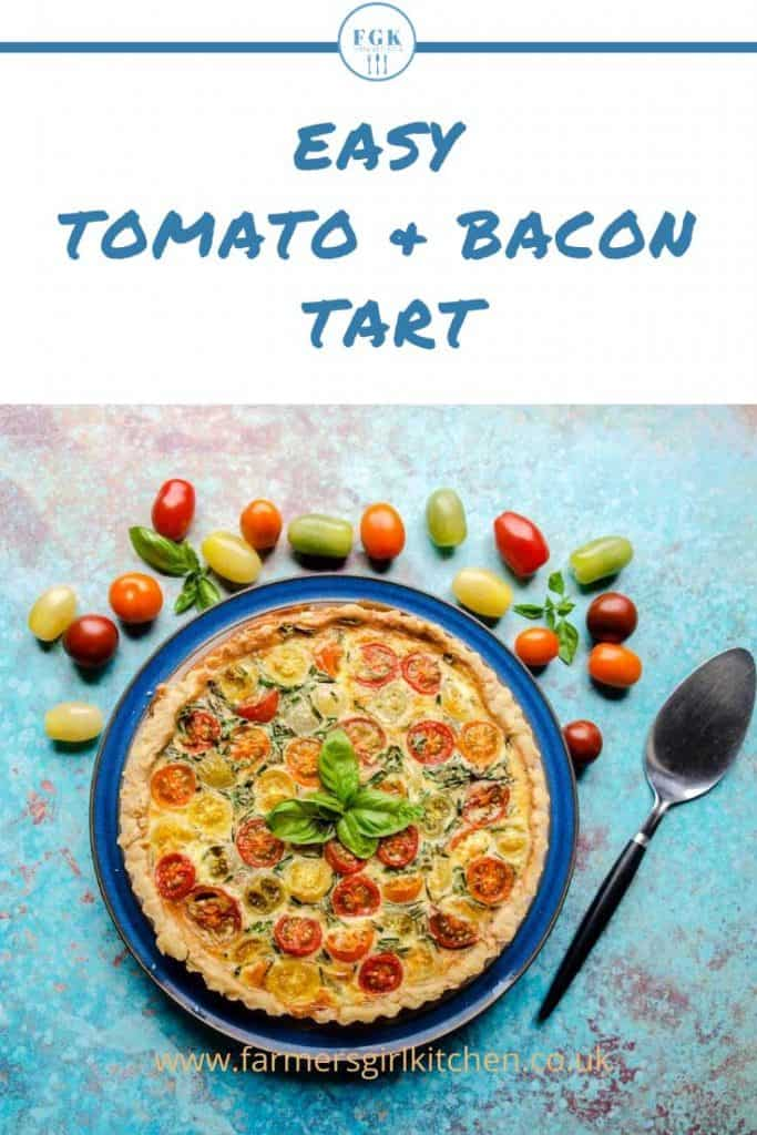 Tomato tart with tomatoes